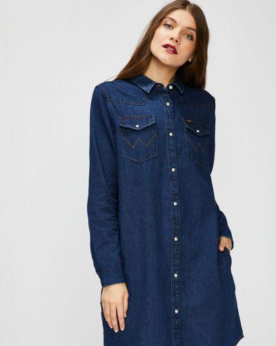 Темно-синее свободное платье мини свободного кроя Wrangler