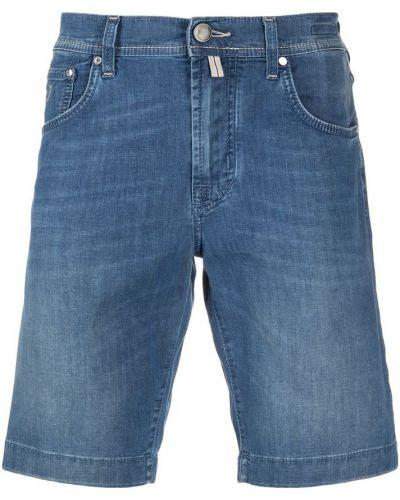 Niebieskie bermudy jeansowe z haftem Jacob Cohen