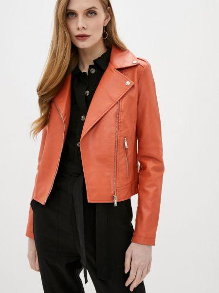 Оранжевая кожаная куртка Softy