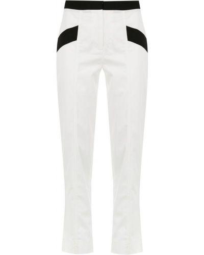 Черные укороченные брюки с воротником с поясом Mara Mac