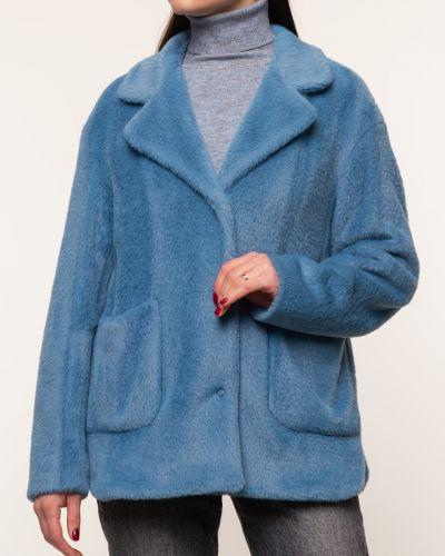Прямая серая куртка с воротником синар