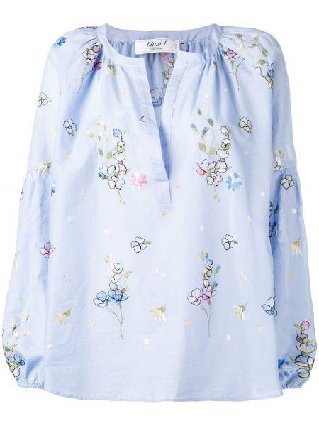 Синяя блузка из вискозы Blugirl