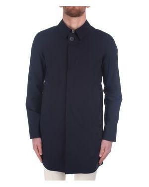 Płaszcz przeciwdeszczowy niebieski Herno