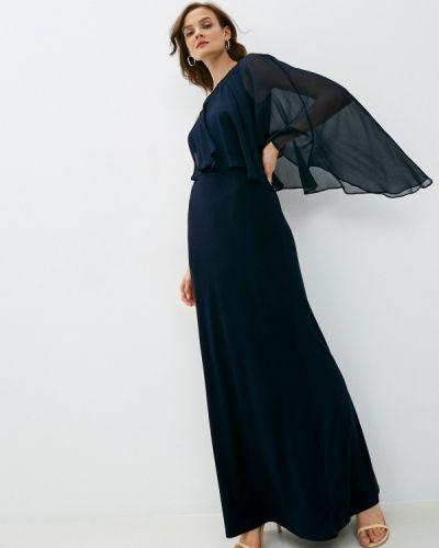 Синее вечернее платье Lauren Ralph Lauren