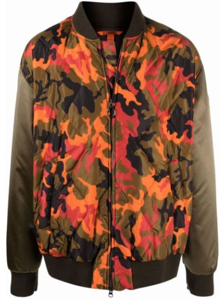 Pomarańczowa kurtka z printem Barena