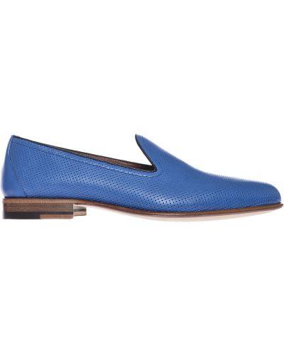 Кожаные туфли - синие A.testoni