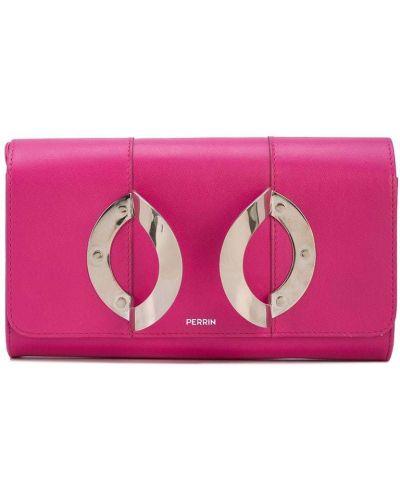 Розовая сумка металлическая с карманами Perrin Paris