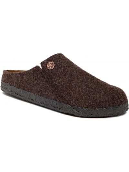 Sandały skórzane - brązowe Birkenstock