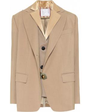 Классический пиджак шерстяной Sacai
