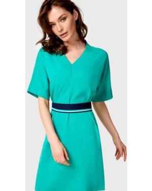 Платье с поясом через плечо с V-образным вырезом Ostin