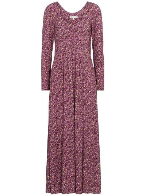Розовое платье миди с оборками из вискозы Loveshackfancy