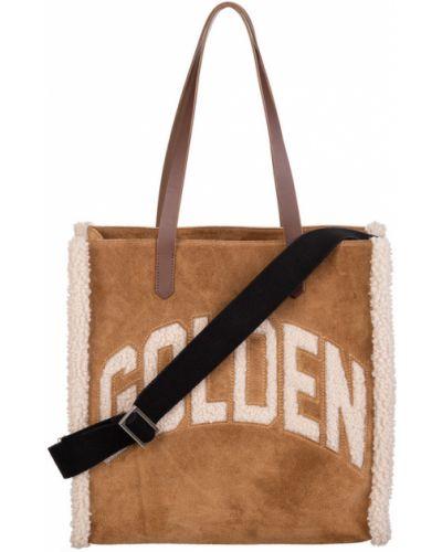 Brązowa torba na ramię skórzana Golden Goose