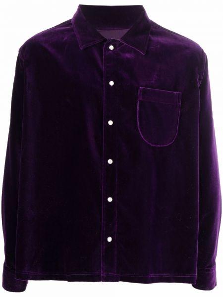 Fioletowa koszula zapinane na guziki Erl