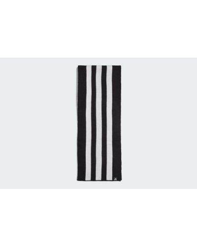 Biały szalik w paski z akrylu Adidas
