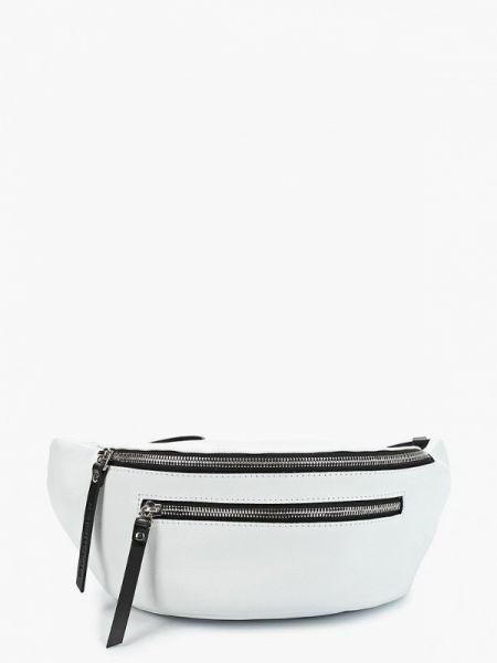 Белая поясная сумка из натуральной кожи Asya Malbershtein