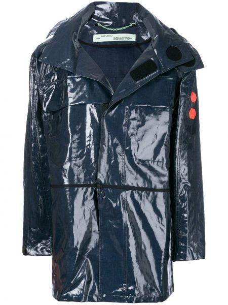 Płaszcz przeciwdeszczowy z kieszeniami długo Off-white