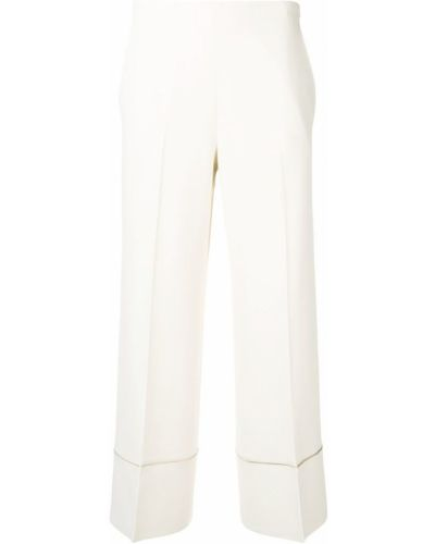 Укороченные брюки белые Antonelli