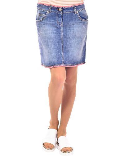 Синяя юбка хлопковая Love Moschino