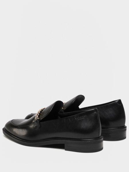 Черные кожаные лоферы с подкладкой Vagabond