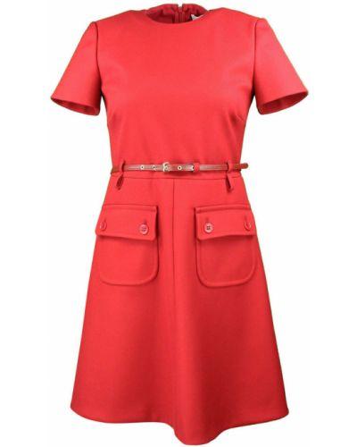 Czerwony szlafrok zapinane na guziki Red Valentino