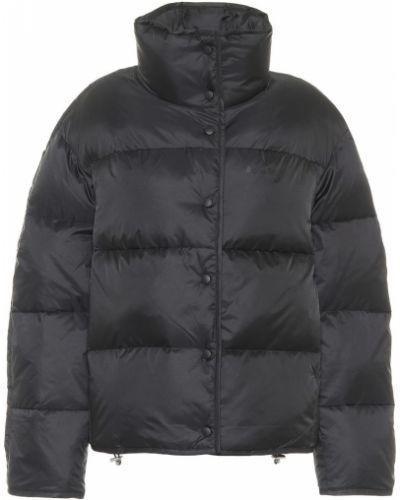 Pikowana puchaty czarny pikowana kurtka Acne Studios