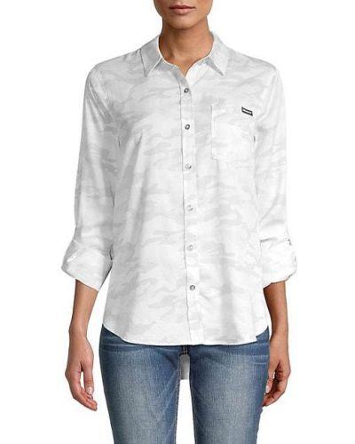 Koszula zapinane na guziki srebrna z printem Calvin Klein Jeans