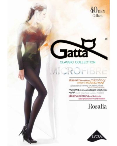 Rajstopy srebrne - fioletowe Gatta