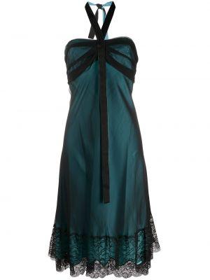 Sukienka midi zielona bez rękawów Gianfranco Ferré Pre-owned