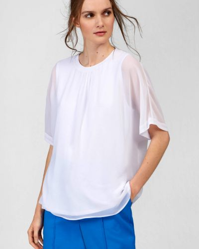Biała bluzka z siateczką z wiskozy Orsay