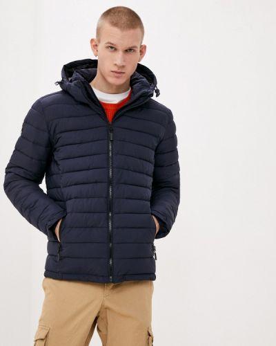 Утепленная синяя куртка Superdry