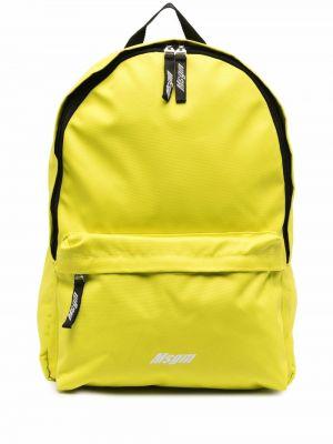Plecak z printem - żółty Msgm