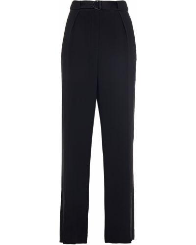 Czarne spodnie z paskiem z wiskozy Rag & Bone