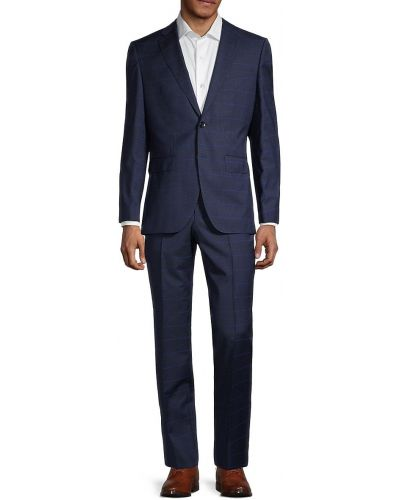 Прямой длинный шерстяной костюм Boss Hugo Boss
