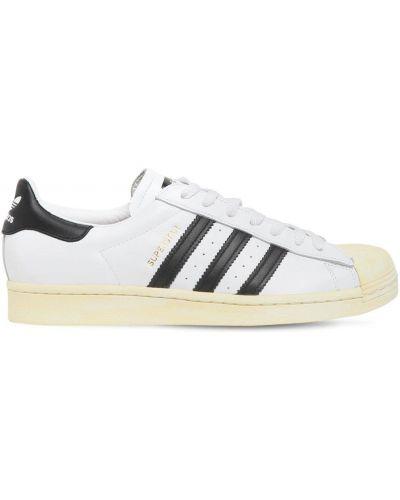 Koronkowa skórzany sneakersy zasznurować Adidas Originals