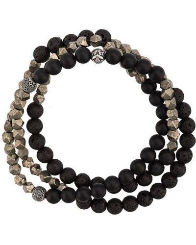 Браслет черный Nialaya Jewelry