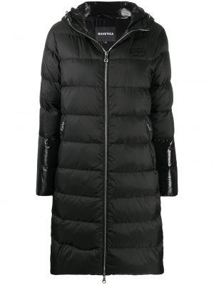Klasyczny czarny płaszcz z kapturem Duvetica