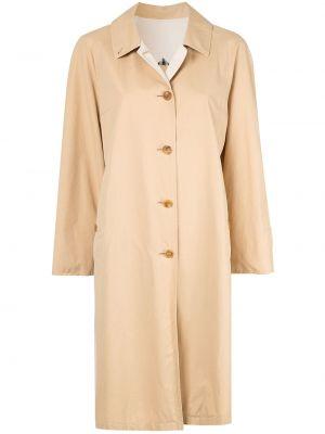 Коричневое пальто с воротником на пуговицах винтажное Burberry Pre-owned