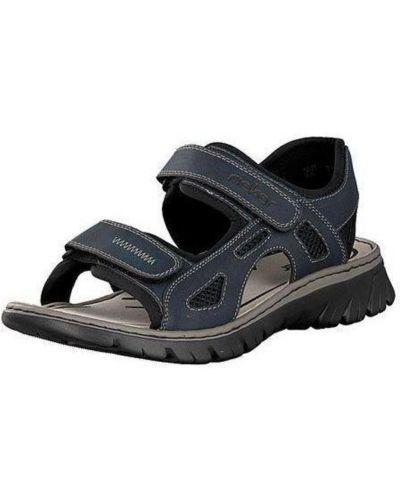 Szare sandały skorzane na co dzień Rieker