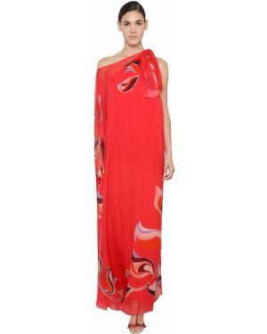 Платье макси на одно плечо на пуговицах Emilio Pucci