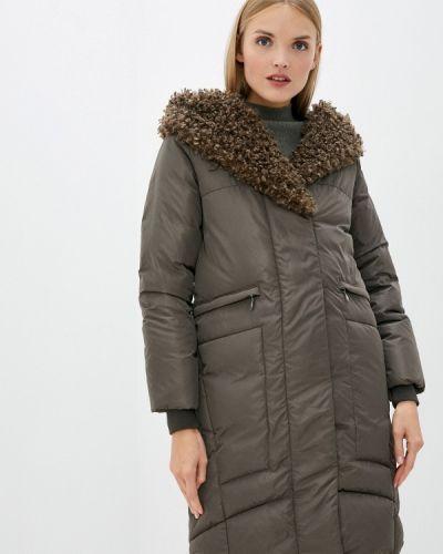 Зеленая утепленная куртка D`imma