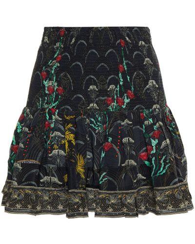 Облегченная шелковая юбка мини Camilla