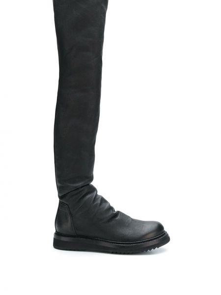 Черные кожаные криперы с американской проймой Rick Owens