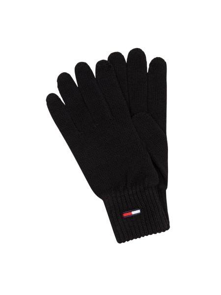 Bawełna bawełna czarny rękawiczki prążkowany Tommy Jeans