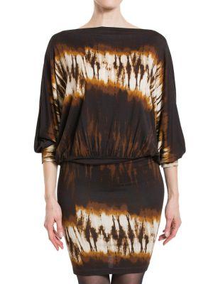 Платье из вискозы - коричневое Plein Sud
