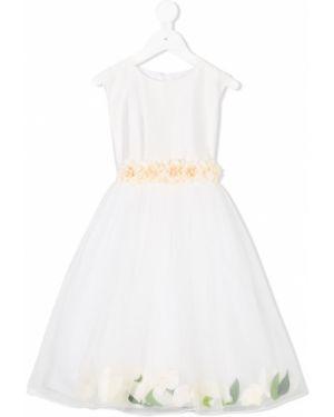 Пышное платье из фатина с вырезом круглое с аппликациями Lesy