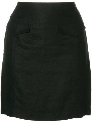 Льняная юбка мини винтажная с карманами узкого кроя Versace Pre-owned