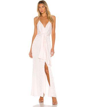 Dżinsowa sukienka z wiskozy z paskiem L'academie