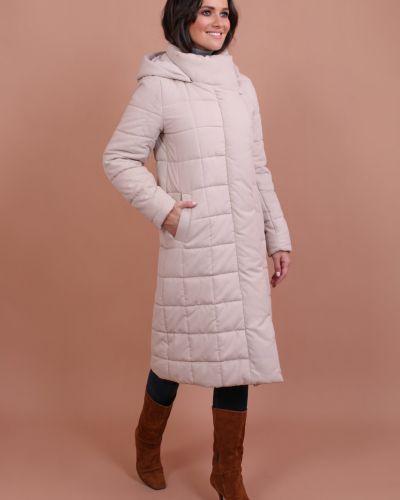 Пальто с капюшоном с воротником на пуговицах J-splash