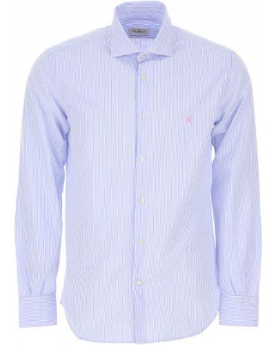 Biała koszula bawełniana w paski Brooksfield