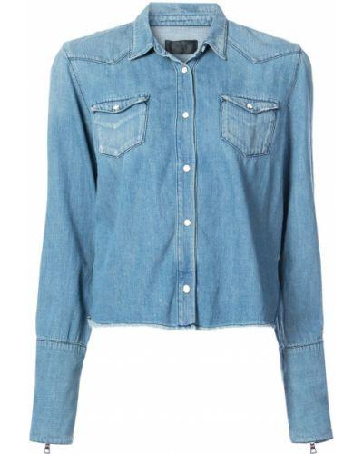 Джинсовая рубашка с карманами с длинным рукавом Rta